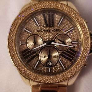 Michael Kors Wren Pave Gold Crystal Watch
